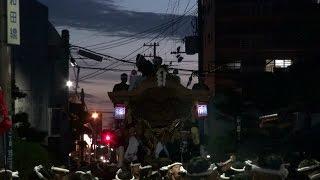 2014年9月13日の曳き出しの様子です。 商店街・欄干橋にて撮影 藤井町の...