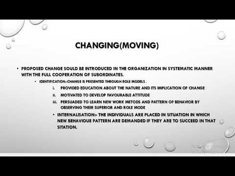 KURT LEWIN'S CHANGE MODEL ORGANIZATION CHANGE AND DEVELOPMENT