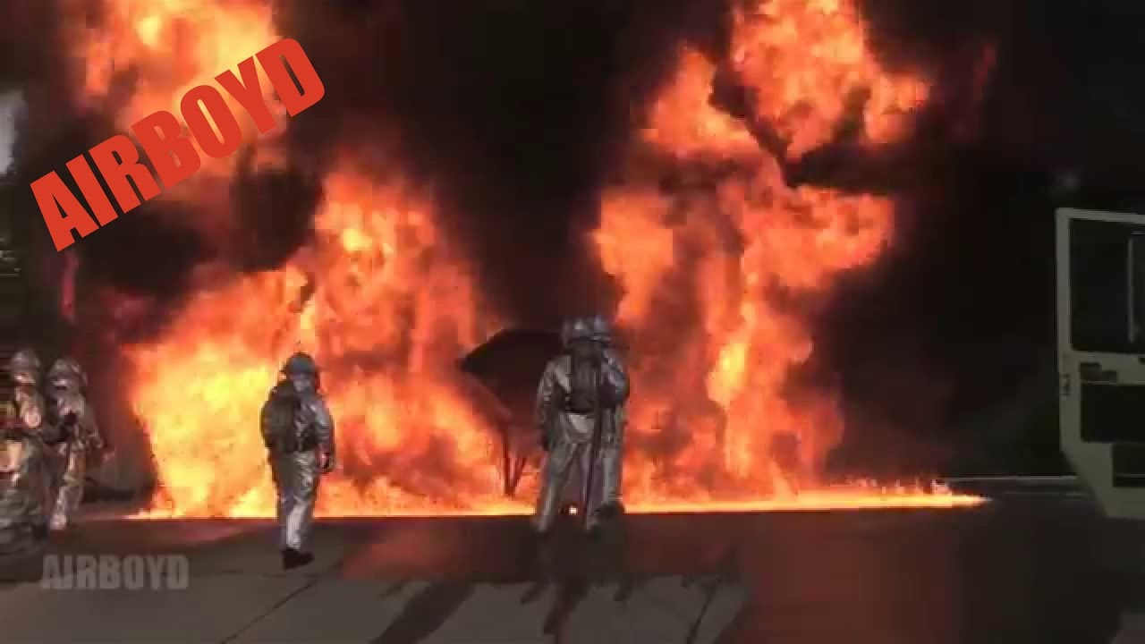 Jet Fuel Fire Suppression Training Youtube