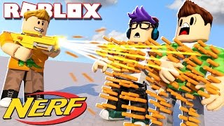 Roblox Adventures - CAN YOU SURVIVE 9999 NERF DARTS IN ROBLOX!? (Roblox Nerf FPS)