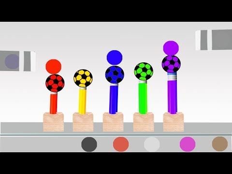 Soccer Ball Pencil Colors Video For Children || Learn Colors and Nursery Rhymes For Kids thumbnail