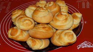 """Булочки дрожжевые """"Французские"""" с ленивым бриошь и корицей/Yeast buns"""