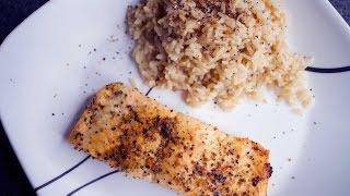 Baked Salmon & Brown Rice