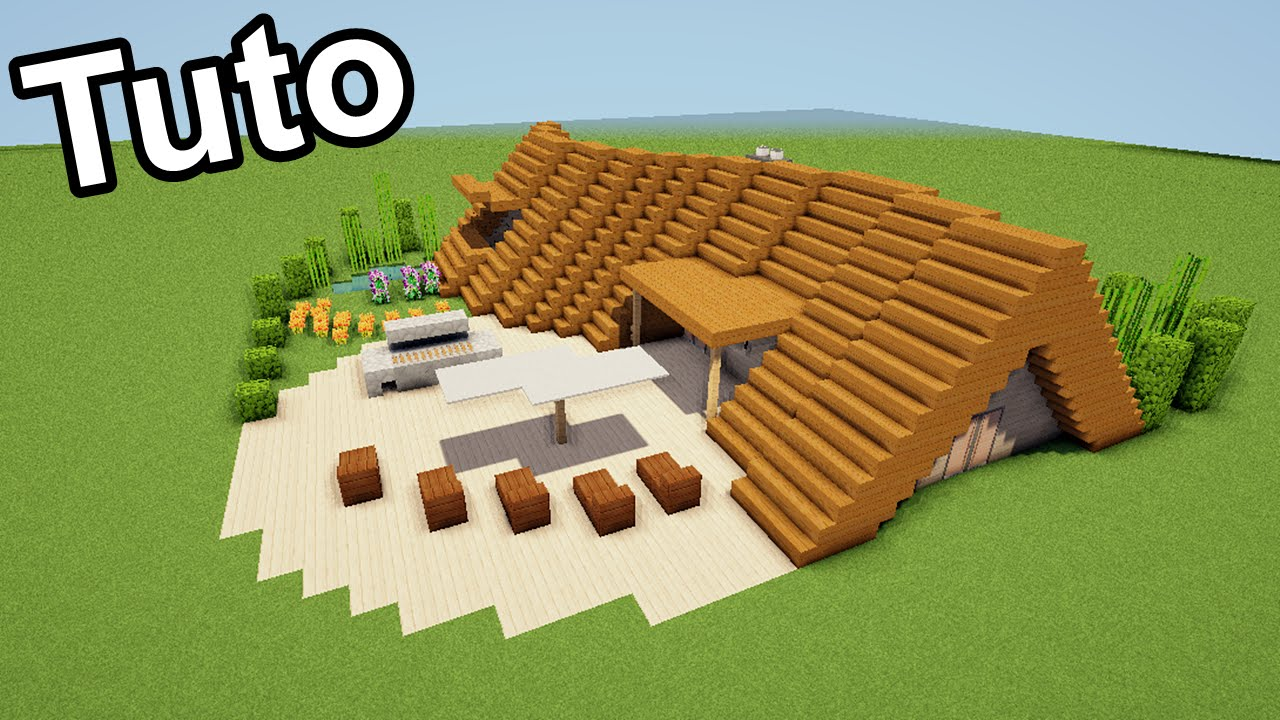 Minecraft tuto comment faire une maison moderne courb e en zig zag youtube - Comment faire une maison moderne minecraft ...