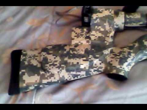 An Easy Quick Camo Job on an air rifle using Camo Duct Tape