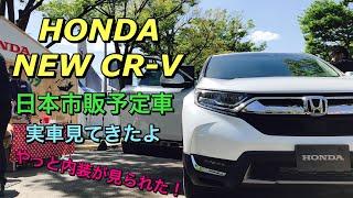 ホンダ 新型 CR-V フルモデルチェンジ 日本市販予定車 ガソリンモデル 実車見てきたよ☆やっと内装が見れて思ったより質感良し!HONDA NEW CR-V inside&outside
