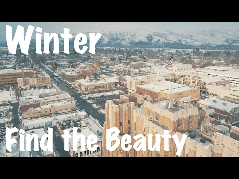 DJI Mavic Pro Yakima, WA Winter, Snow, Lake, Bridge, Cold Weather