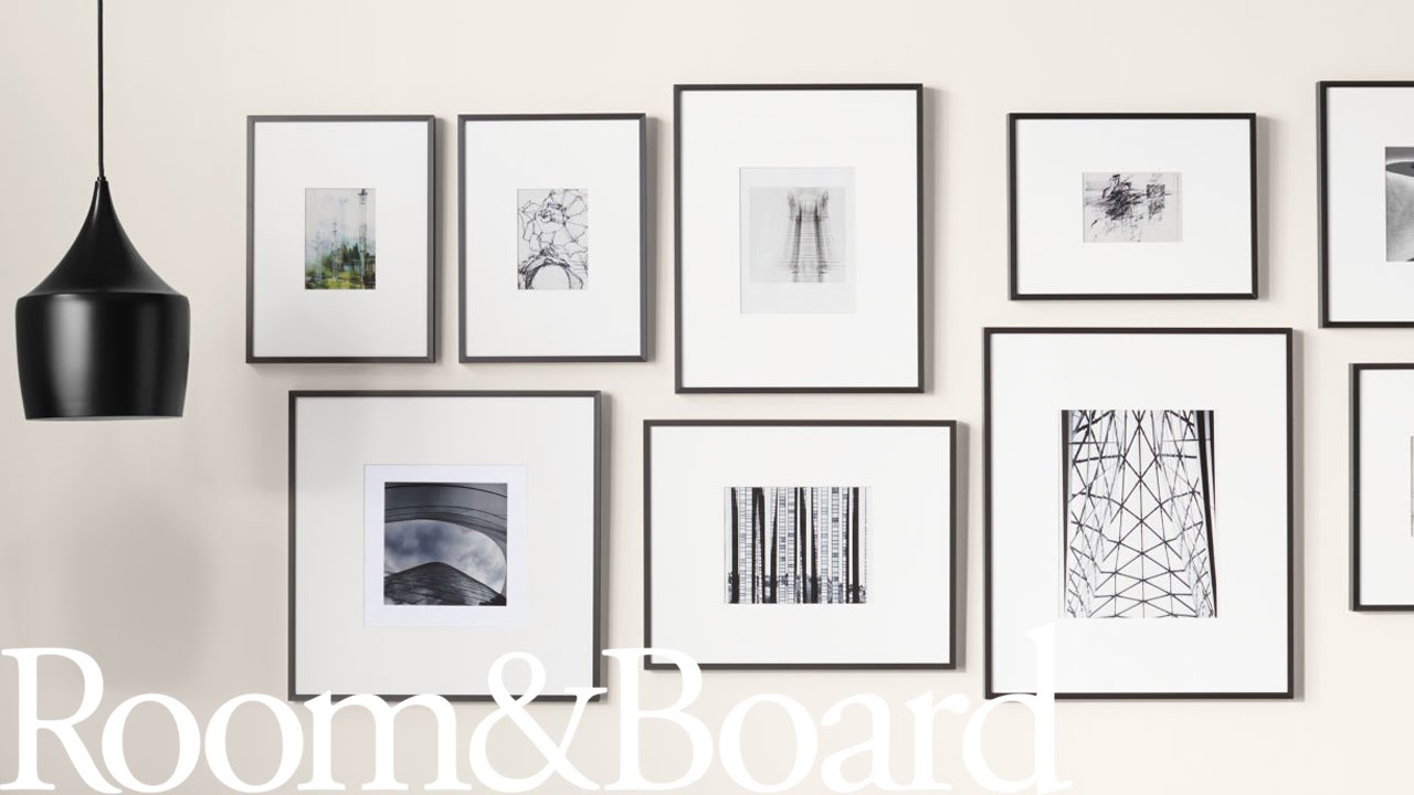 How to create a modern frame wall youtube - Interiors by design picture frames ...