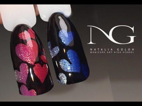 Маникюр на день Валентина: рисунки на ногтях / Valentines Day Hearts Nails