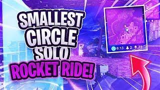TINY FORTNITE Circle Rocket Ride SNIPE! (WTF Crazy Glider Rocket Glitch)