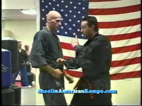 Shaolin Kempo Karate Martial Art Punch Technique advanced kempo off 2 punches-Jim Brassard.avi