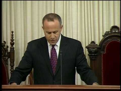 Darrell Steinberg's comments upon being sworn in as Senate President pro Tem