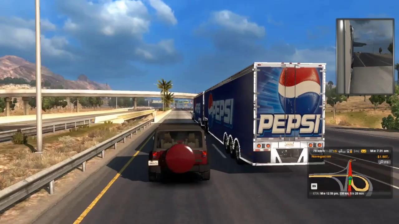 Chocamos el trailer de pepsi american truck similator dole chocamos el trailer de pepsi american truck similator dole remolque sciox Image collections