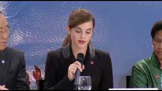Emma Watson Speech for HeForShe IMPACT 10x10x10 Program at World Economic Forum 2015