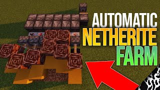 Minecraft 1.16+ Automatic NETHERITE Farm Tutorial EASY ANCIENT DEBRIS! (GHOST DUPER)