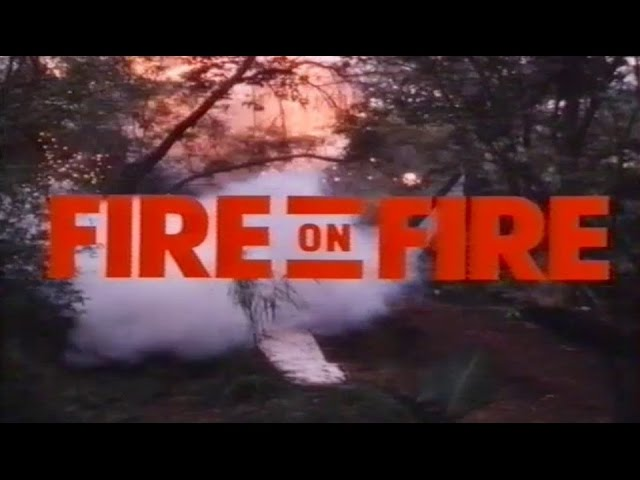 Oliver Reed in FIRE ON FIRE - Trailer (1988, German)