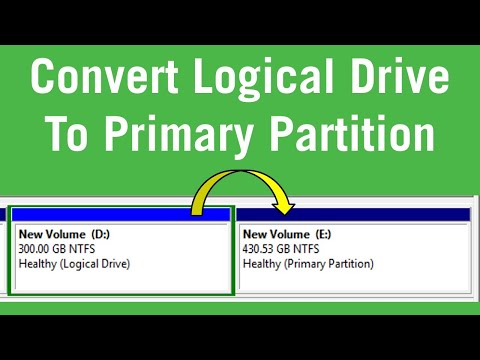 How to convert logical drive to primary partition