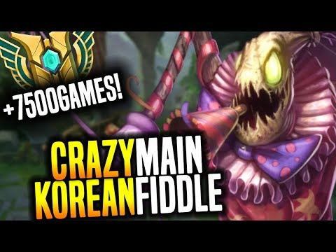 The Craziest Korean OTP Fiddlesticks Support! - Korean Master Fiddlesticks Main With +7500Games!