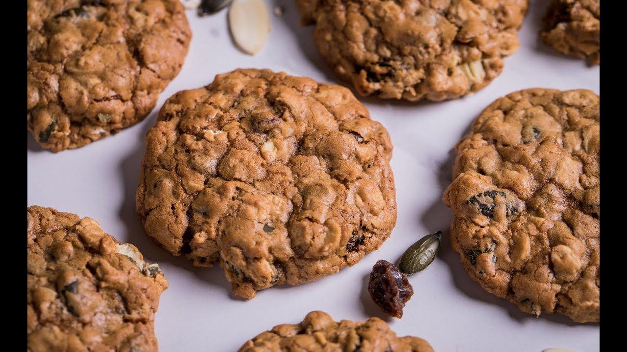 คุกกี้ข้าวโอ๊ตเติมพลัง Energy Oat Cookies