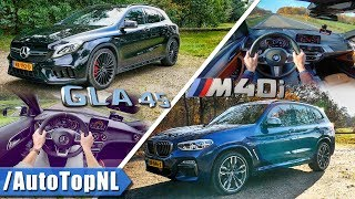 Mercedes GLA 45 AMG vs BMW X3 M40i | ACCELERATION TOP SPEED Exhaust SOUND & POV by AutoTopNL