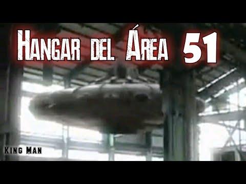 Dentro del Área 51 hangar grabación  filtrada