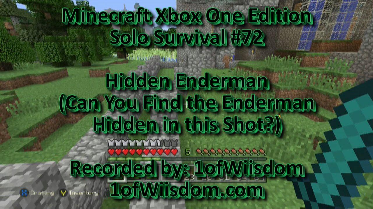 Minecraft Xbox One Solo Survival 72 Hidden Enderman