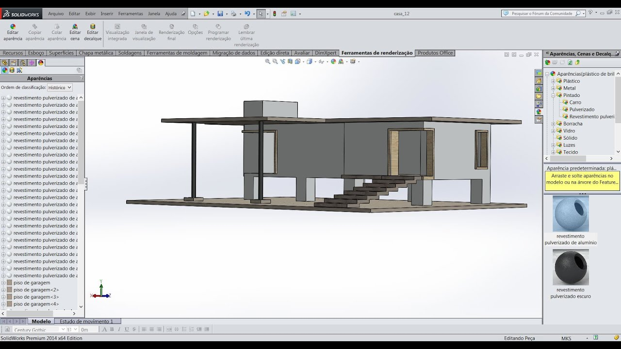Aula 9 0 Solidworks Praticando Desenho Plano Casa Youtube