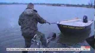 Straż rybacka kontra kłusownicy (TVP Info, 09.01.2014)