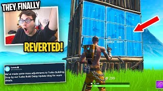 Fortnite FINALLY REVERTED THE UPDATE... (they FIXED THE GAME!)