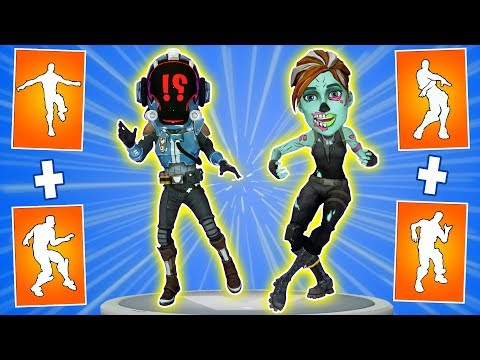 🎮What Happens If Mix Two Fortnite Dances In One #6. Orange Justice Dance + Infectious Emote.