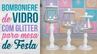 Bomboniere para Mesa de Festa com Glitter