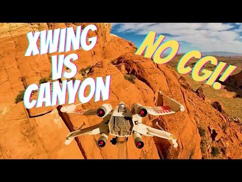 Epic Xwing Canyon Run (Not CGI)