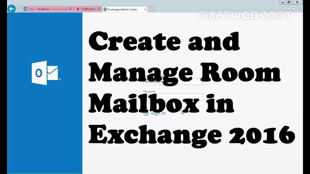 Managing Room Mailbox in Exchange Server 2016 - YouTube