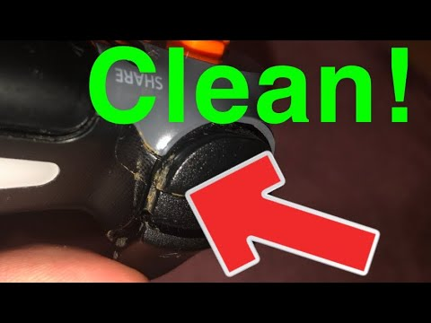 How to Clean your PS4 Controller Dust (Without Opening)!