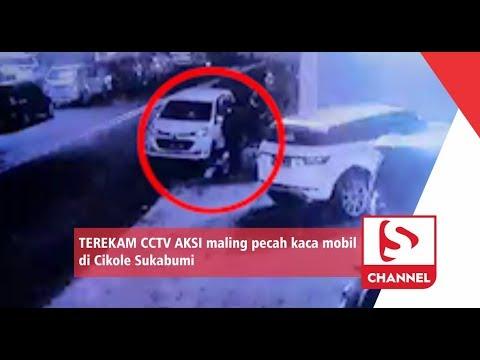 TEREKAM CCTV AKSI maling pecah kaca mobil di Cikole Sukabumi Mp3
