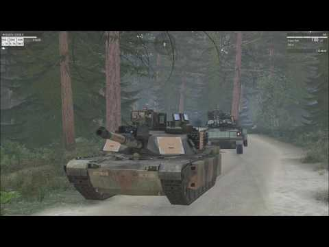 Arma 3 M1A1 Tank commander. Tank battle with the 3rdRB