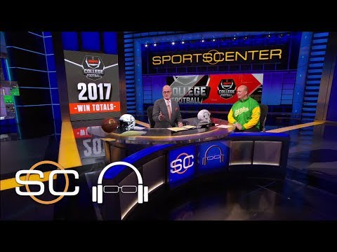 Most Jarring Win Totals For Upcoming College Football Season | SC with SVP | June 7, 2017