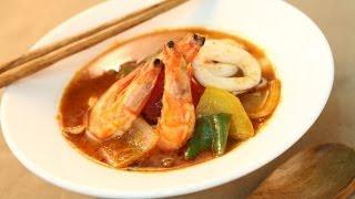 (楊桃美食網) 酸辣海鮮湯