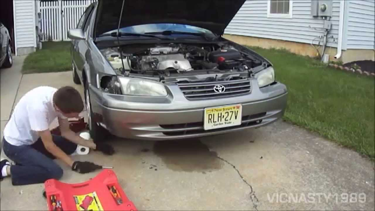 Putting The Front Bumper Cover Back On The 99 Camry Le Youtube