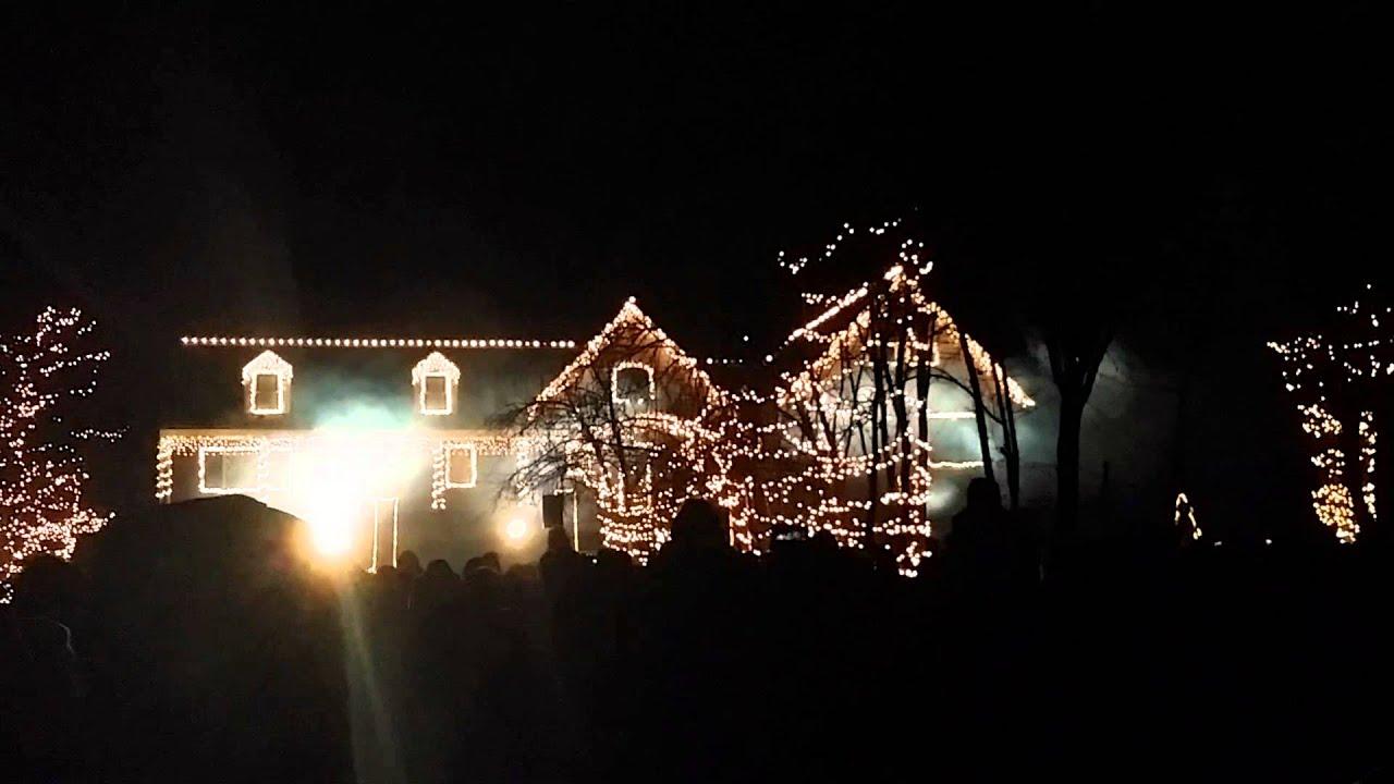 crazy christmas light show wall nj