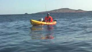 Pesca desde kayak en Canarias; Kayak fishing in the Canaries