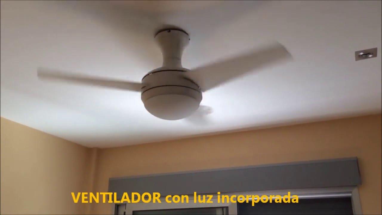 Ventilador de techo blanco mini ufo silencioso youtube - Ventilador techo silencioso ...