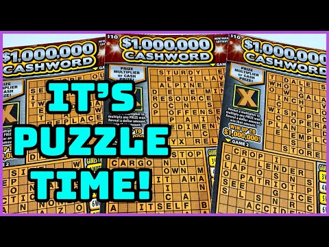 $1,000,000 Cashword Puzzle | New York Lottery Scratch Off Tickets