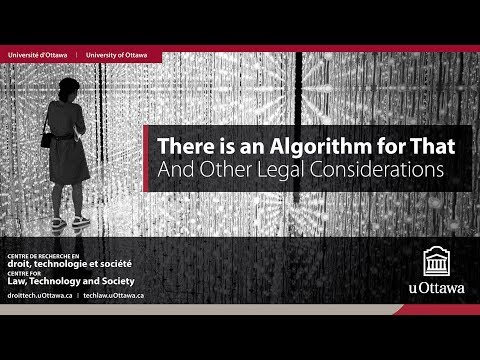 There is an Algorithm for That. And Other Legal Considerations | 14.09.2017