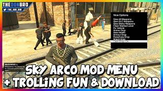 GTA 5 ONLINE - SKY ACRO MOD MENU SHOWCASE - TROLLING FUN (GTA 5 MODS)
