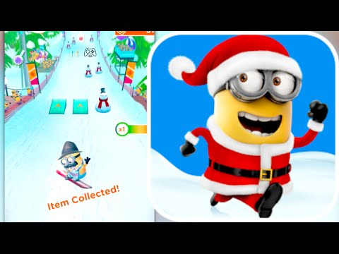SNOWBOARD MINI-GAME!!! Despicable Me: Minion Rush Christmas Update ...
