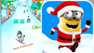 SNOWBOARD MINI-GAME!!! Despicable Me: Minion Rush Christmas Update Gameplay