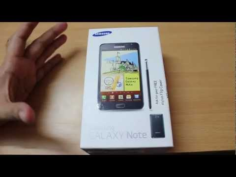 Samsung Galaxy Note unboxing and first boot