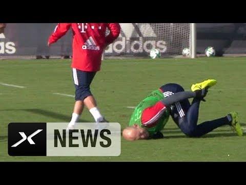 Arjen Robben: Zwischen Schmerzen und Glücksgefühlen | FC Bayern München | Training | News | SPOX