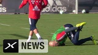 Arjen Robben: Zwischen Schmerzen und Glücksgefühlen   FC Bayern München   Training   News   SPOX